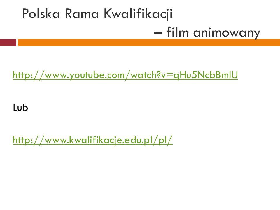 Polska Rama Kwalifikacji – film animowany