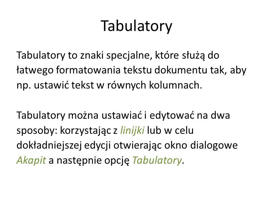 Tabulatory