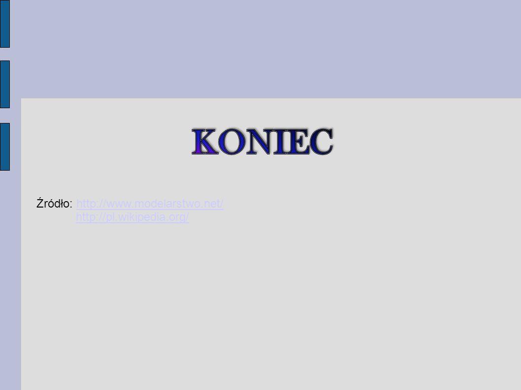 KONIEC Źródło: http://www.modelarstwo.net/ http://pl.wikipedia.org/