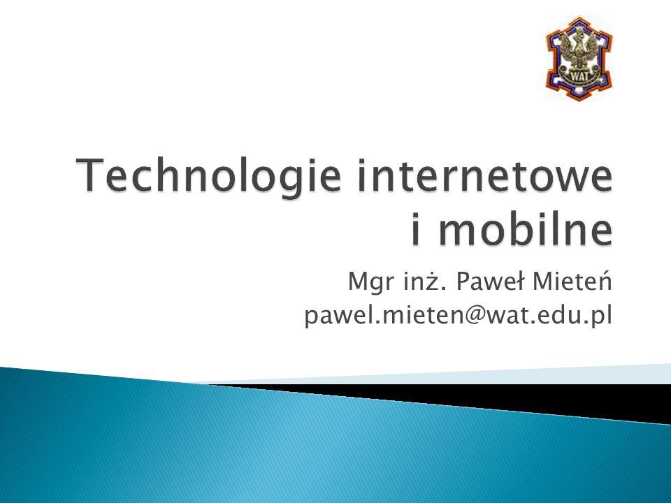 Technologie internetowe i mobilne