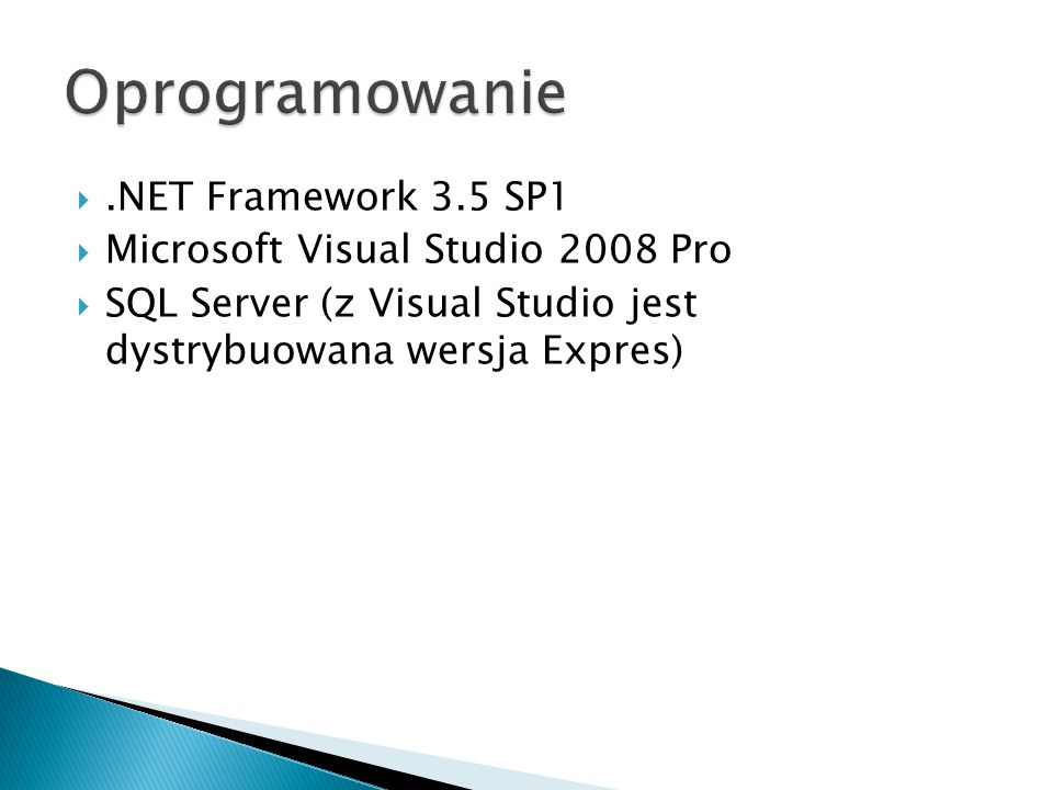 Oprogramowanie .NET Framework 3.5 SP1 Microsoft Visual Studio 2008 Pro