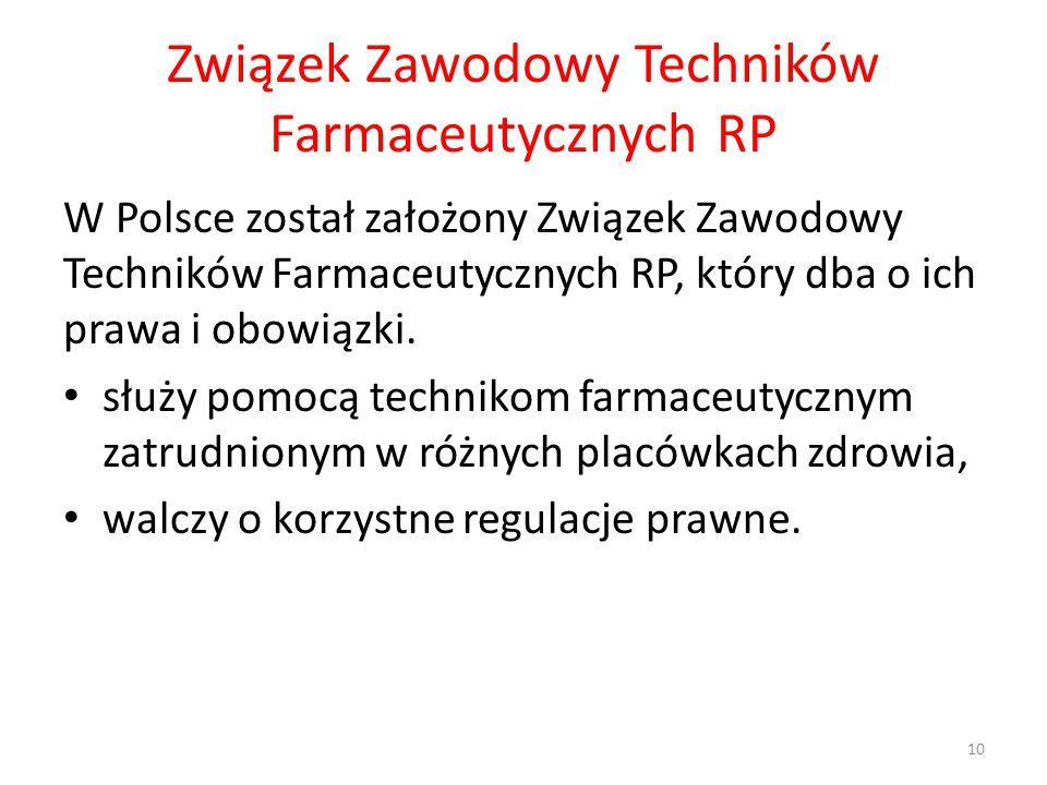 Związek Zawodowy Techników Farmaceutycznych RP