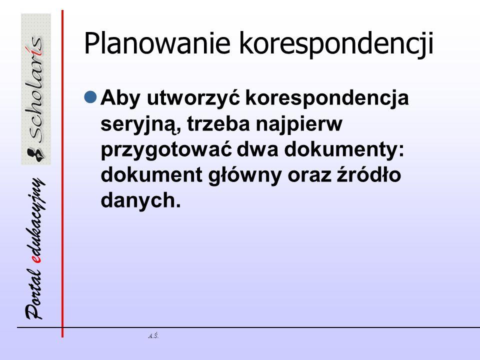 Planowanie korespondencji