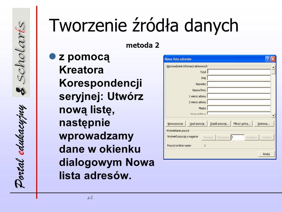 Tworzenie źródła danych