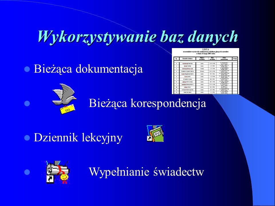 Wykorzystywanie baz danych