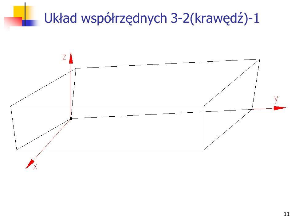 Układ współrzędnych 3-2(krawędź)-1