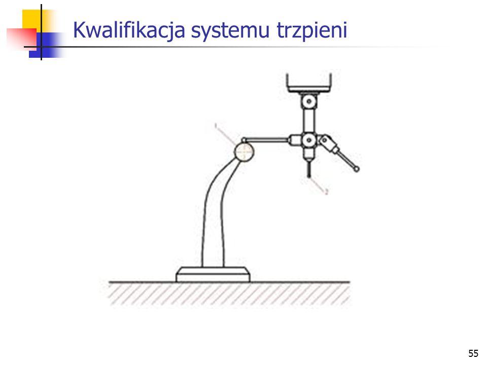 Kwalifikacja systemu trzpieni