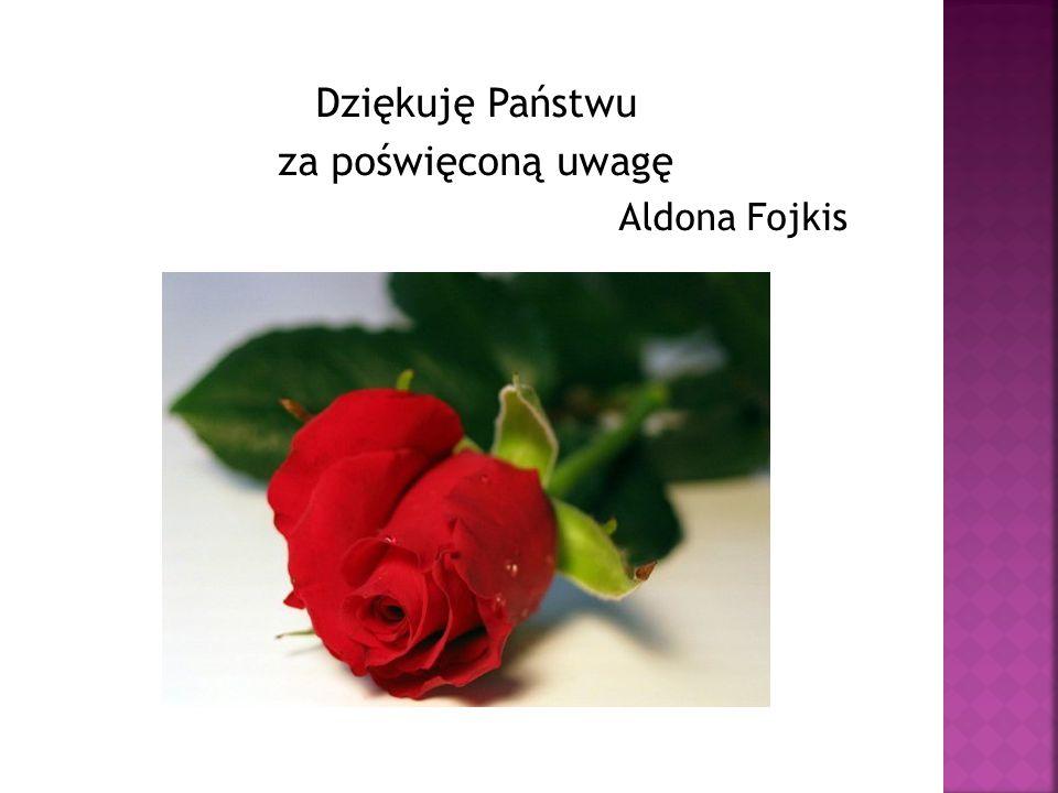 Dziękuję Państwu za poświęconą uwagę Aldona Fojkis