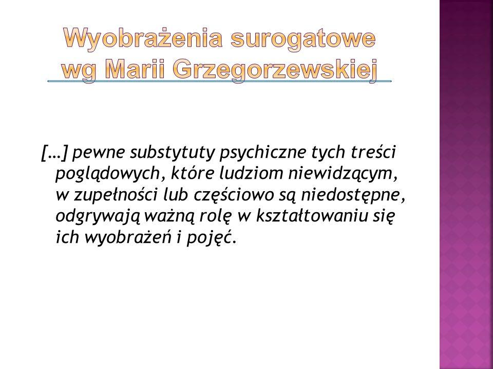 Wyobrażenia surogatowe wg Marii Grzegorzewskiej
