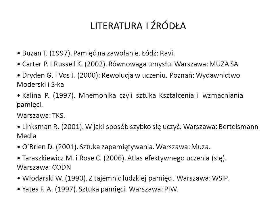LITERATURA I ŹRÓDŁA