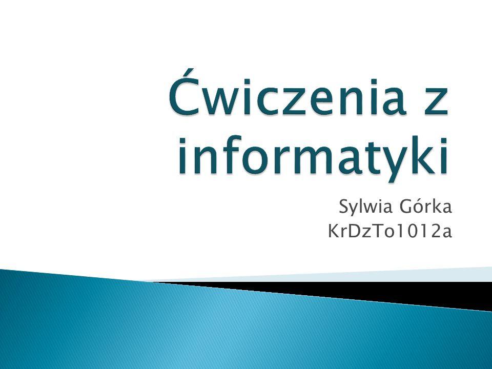 Ćwiczenia z informatyki