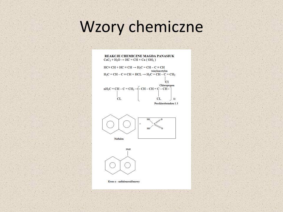 Wzory chemiczne