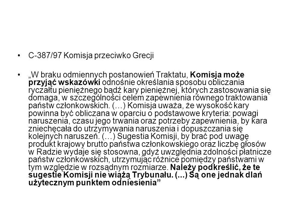 C-387/97 Komisja przeciwko Grecji