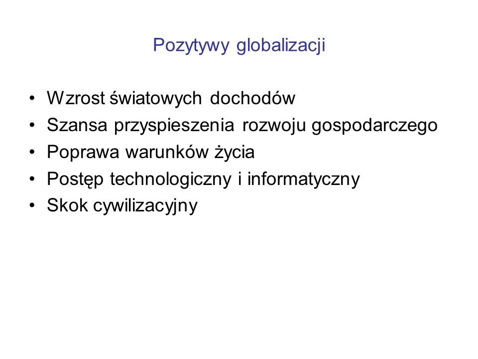 Pozytywy globalizacji
