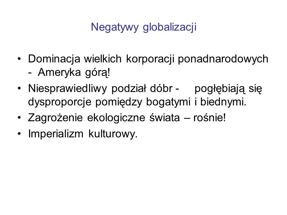 Negatywy globalizacji