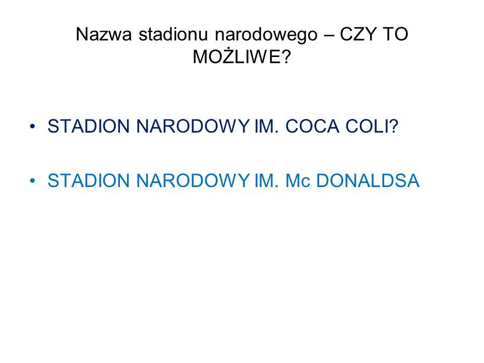 Nazwa stadionu narodowego – CZY TO MOŻLIWE