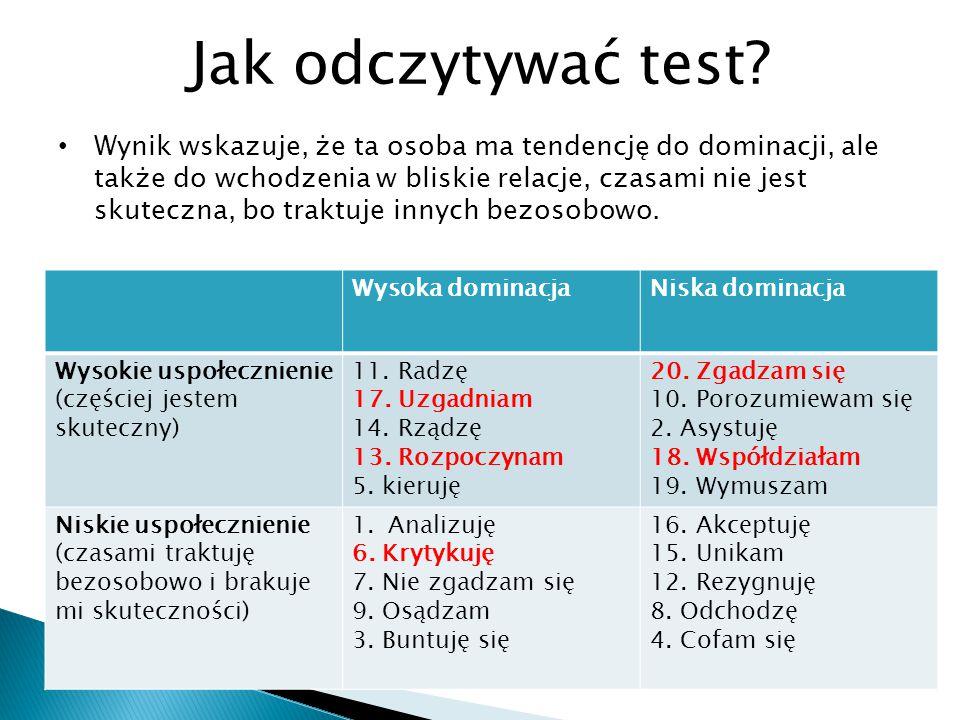 Jak odczytywać test
