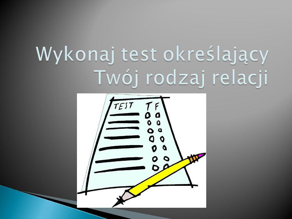 Wykonaj test określający Twój rodzaj relacji