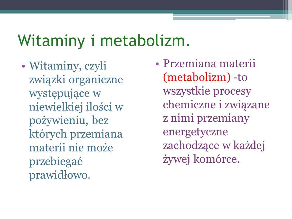 Witaminy i metabolizm.