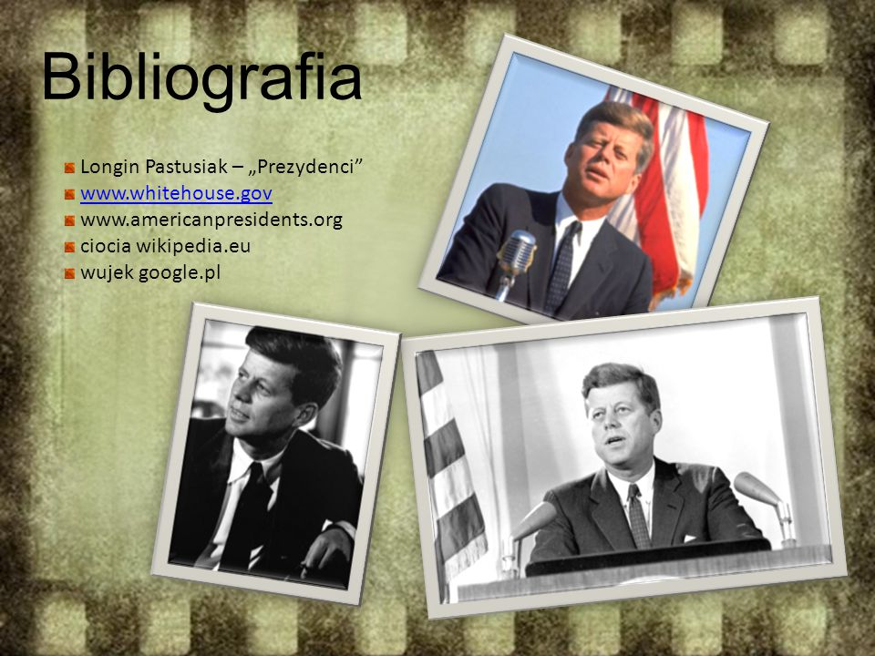 "Bibliografia Longin Pastusiak – ""Prezydenci www.whitehouse.gov"