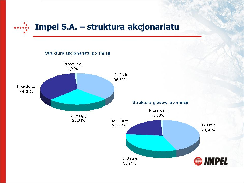 Impel S.A. – struktura akcjonariatu