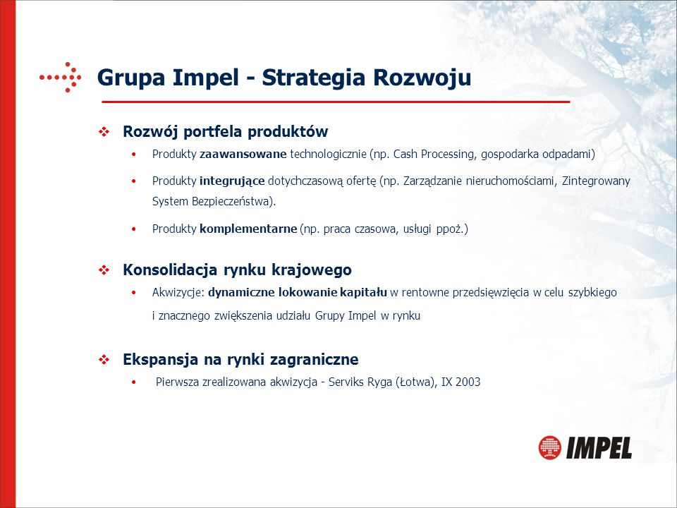 Grupa Impel - Strategia Rozwoju