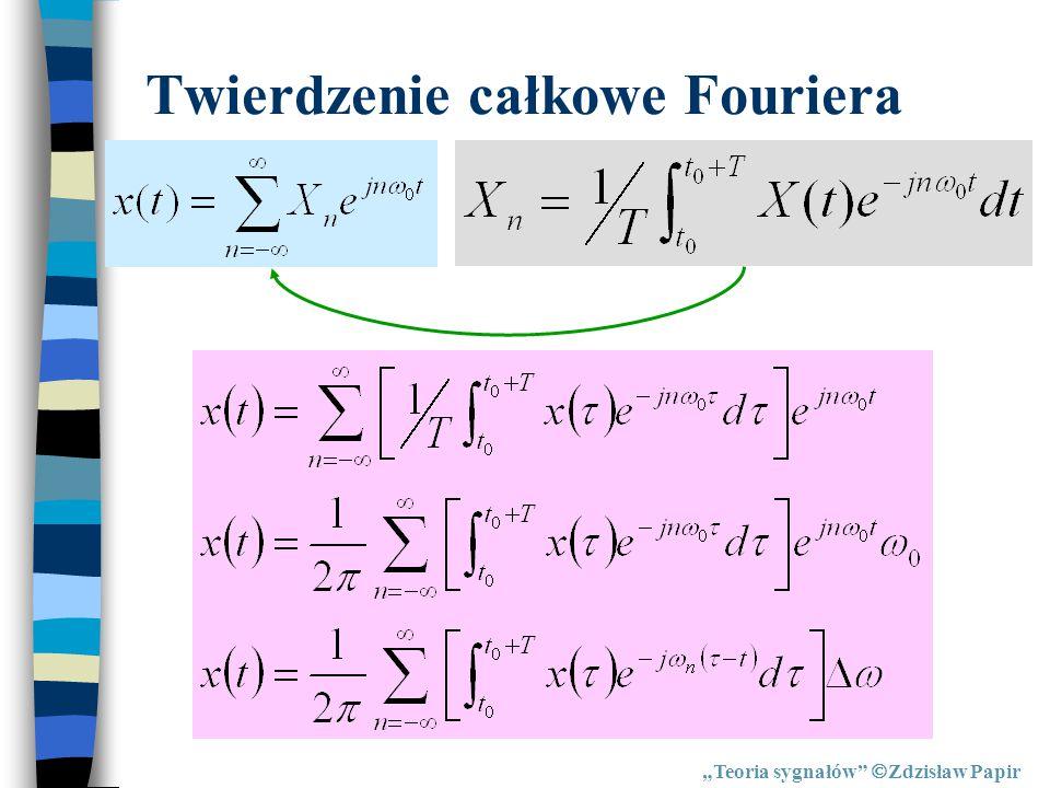 Twierdzenie całkowe Fouriera