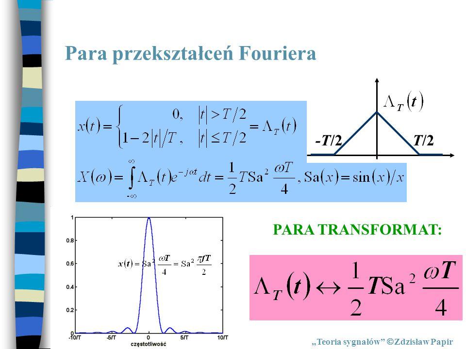 Para przekształceń Fouriera