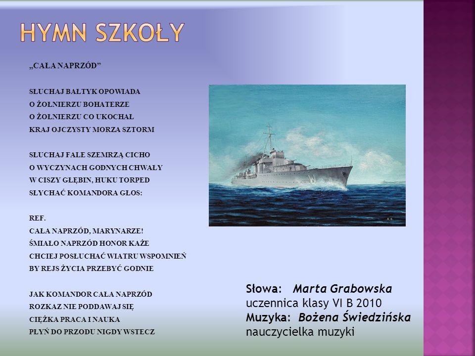 Hymn szkoły Słowa: Marta Grabowska uczennica klasy VI B 2010