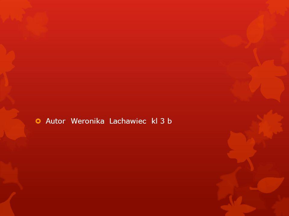 Autor Weronika Lachawiec kl 3 b