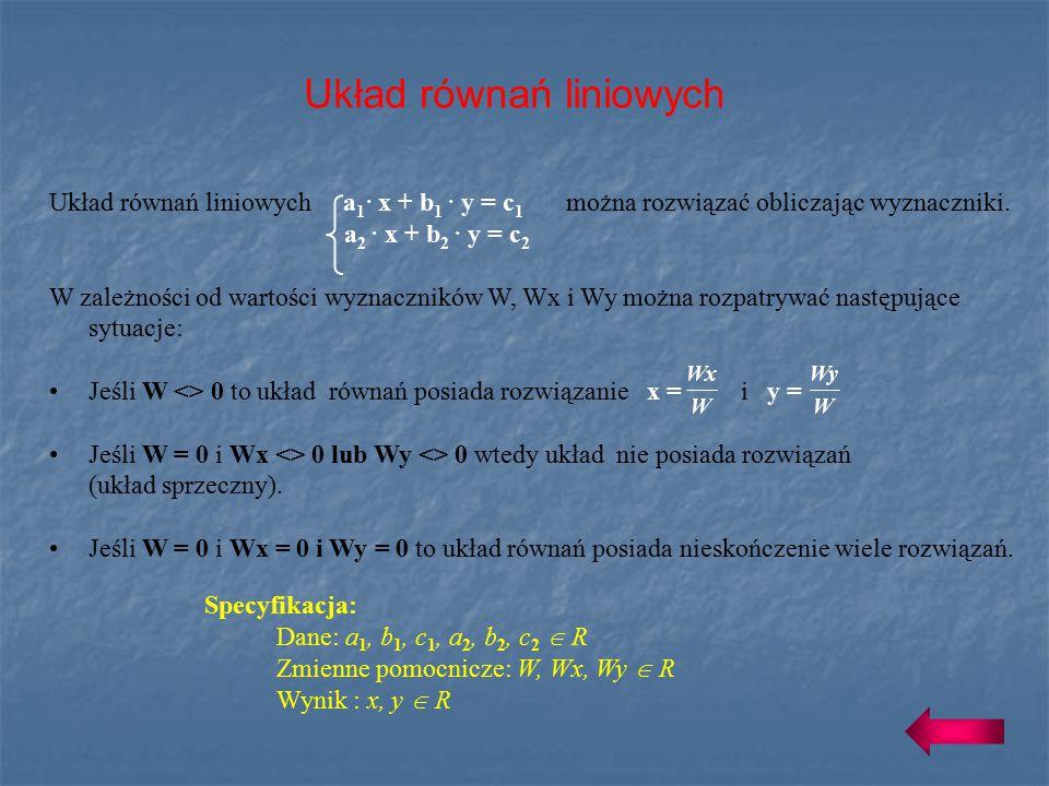 Układ równań liniowych