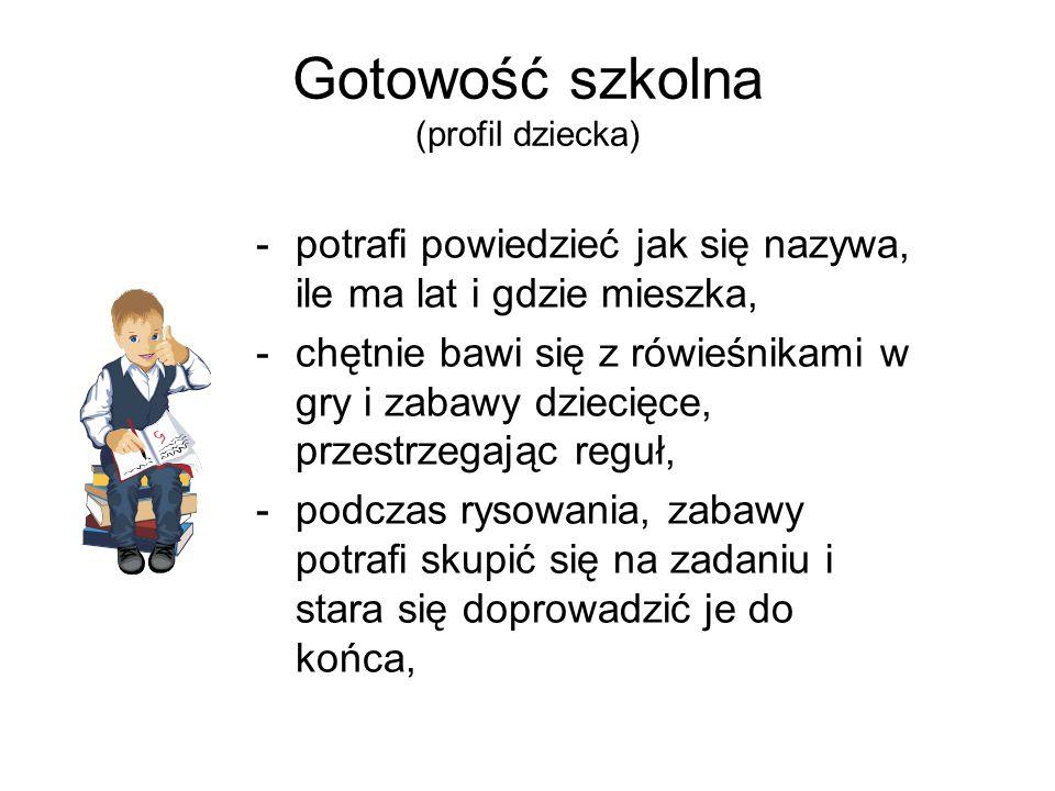 Gotowość szkolna (profil dziecka)