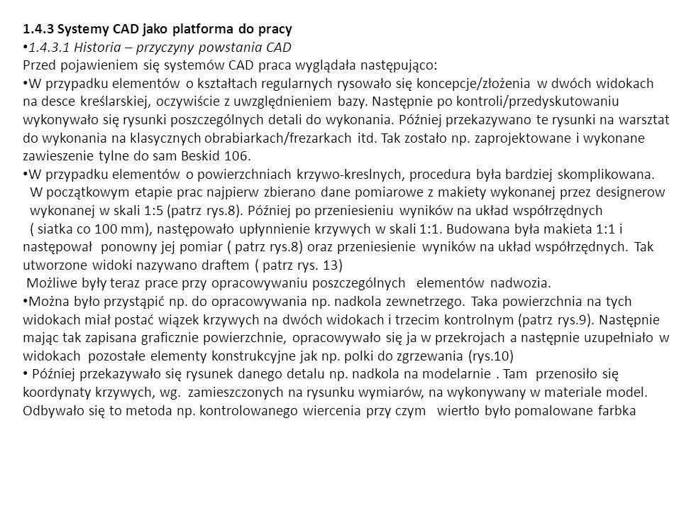 1.4.3 Systemy CAD jako platforma do pracy
