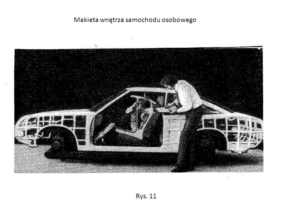 Makieta wnętrza samochodu osobowego