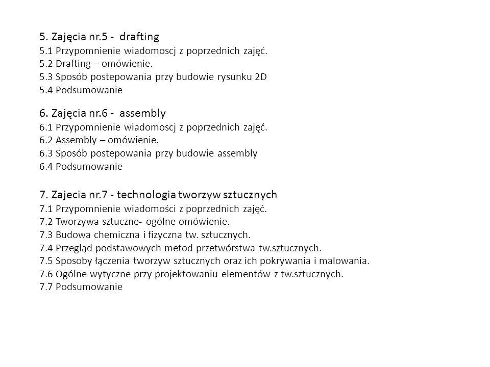 7. Zajecia nr.7 - technologia tworzyw sztucznych