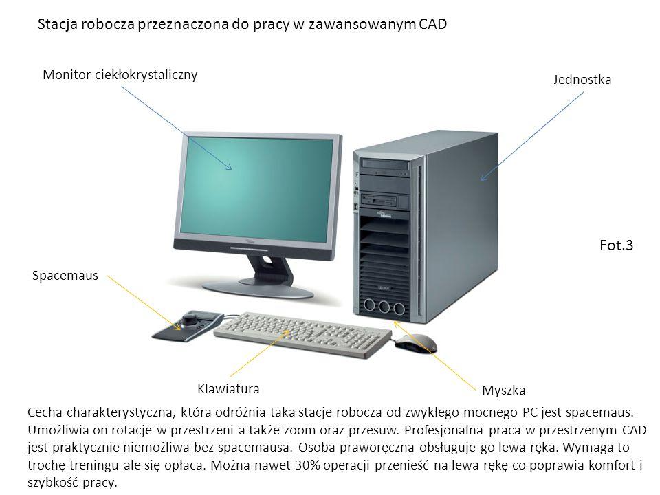 Stacja robocza przeznaczona do pracy w zawansowanym CAD