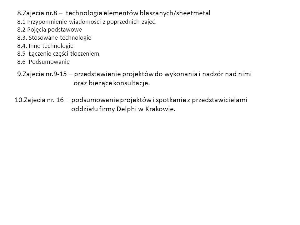 8.Zajecia nr.8 – technologia elementów blaszanych/sheetmetal