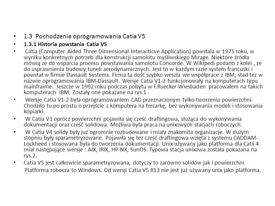 1.3 Pochodzenie oprogramowania Catia V5