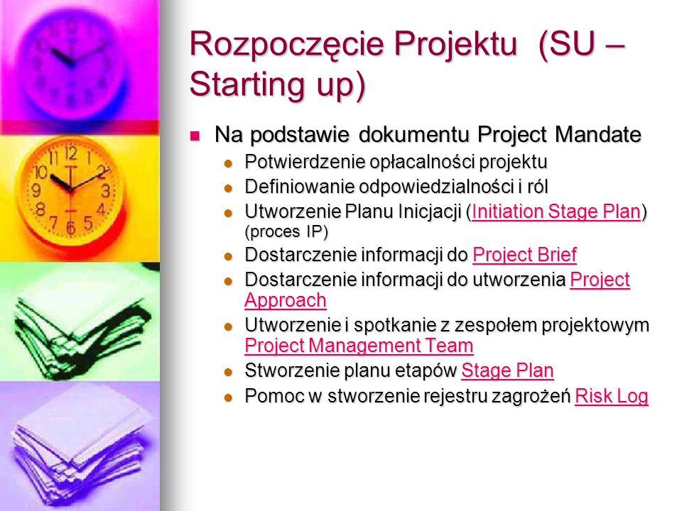 Rozpoczęcie Projektu (SU – Starting up)