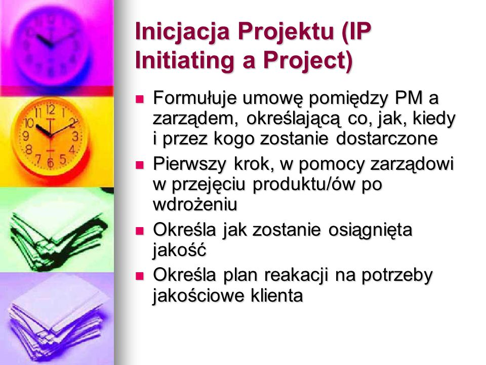 Inicjacja Projektu (IP Initiating a Project)