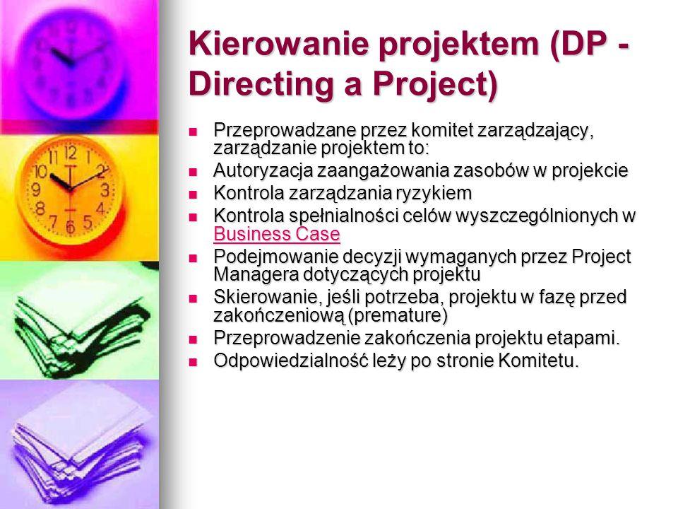 Kierowanie projektem (DP - Directing a Project)