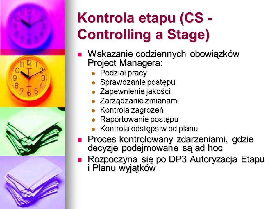 Kontrola etapu (CS - Controlling a Stage)