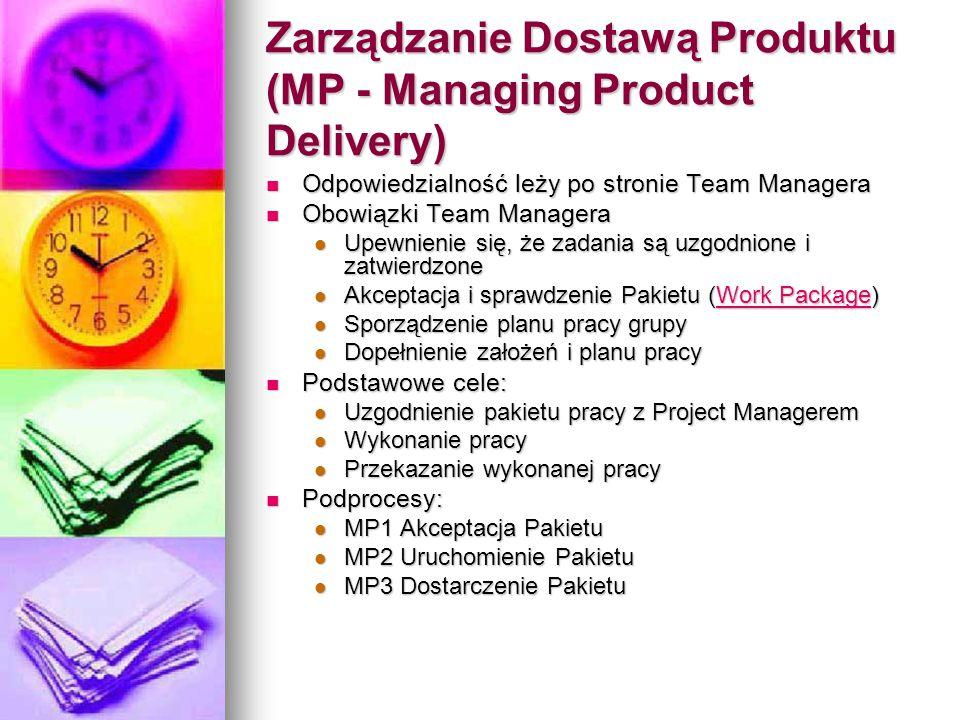 Zarządzanie Dostawą Produktu (MP - Managing Product Delivery)