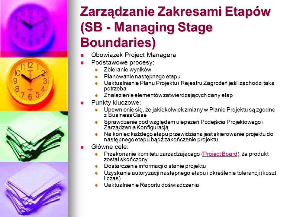 Zarządzanie Zakresami Etapów (SB - Managing Stage Boundaries)