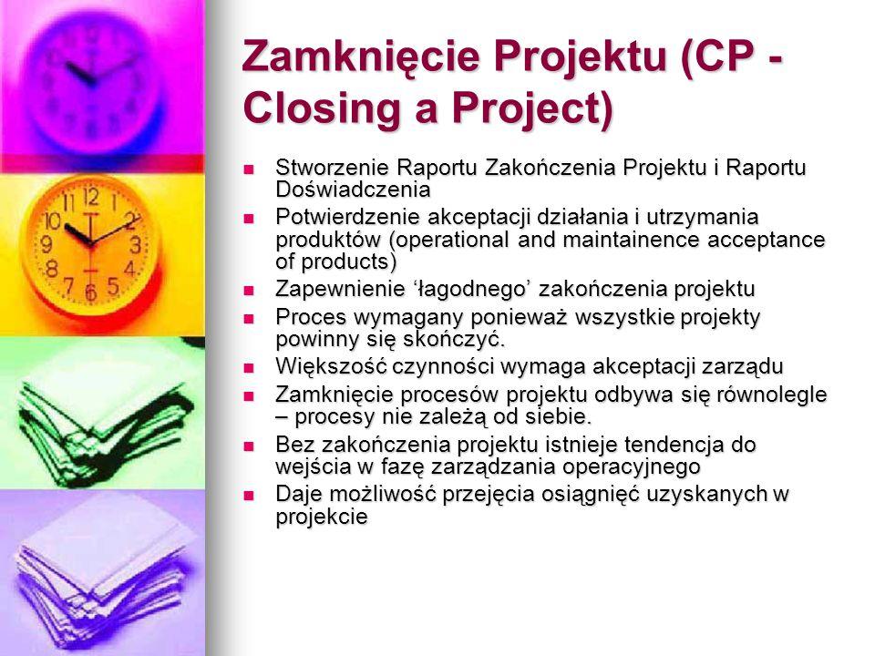 Zamknięcie Projektu (CP - Closing a Project)