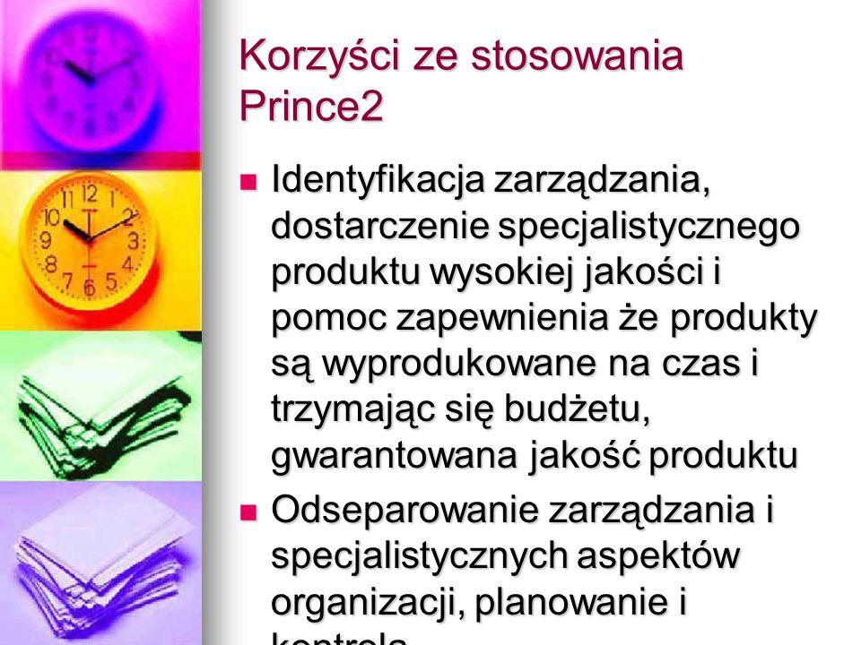 Korzyści ze stosowania Prince2