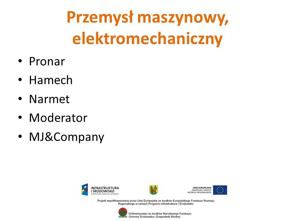 Przemysł maszynowy, elektromechaniczny