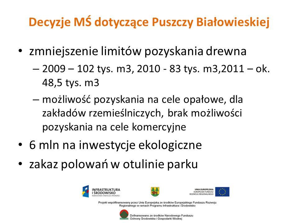 Decyzje MŚ dotyczące Puszczy Białowieskiej
