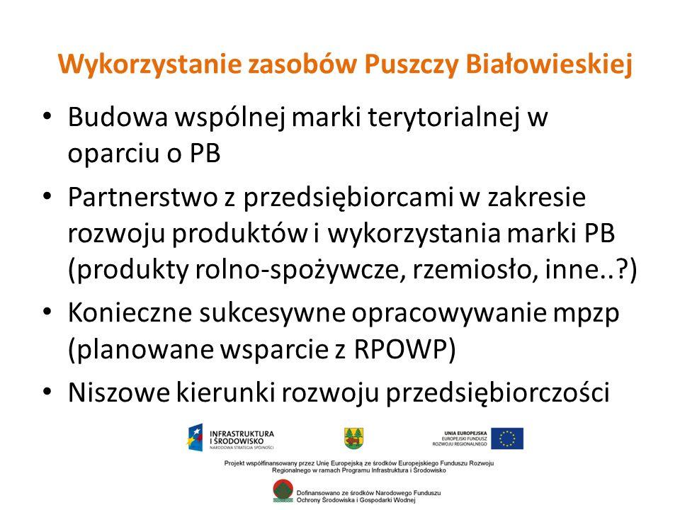Wykorzystanie zasobów Puszczy Białowieskiej