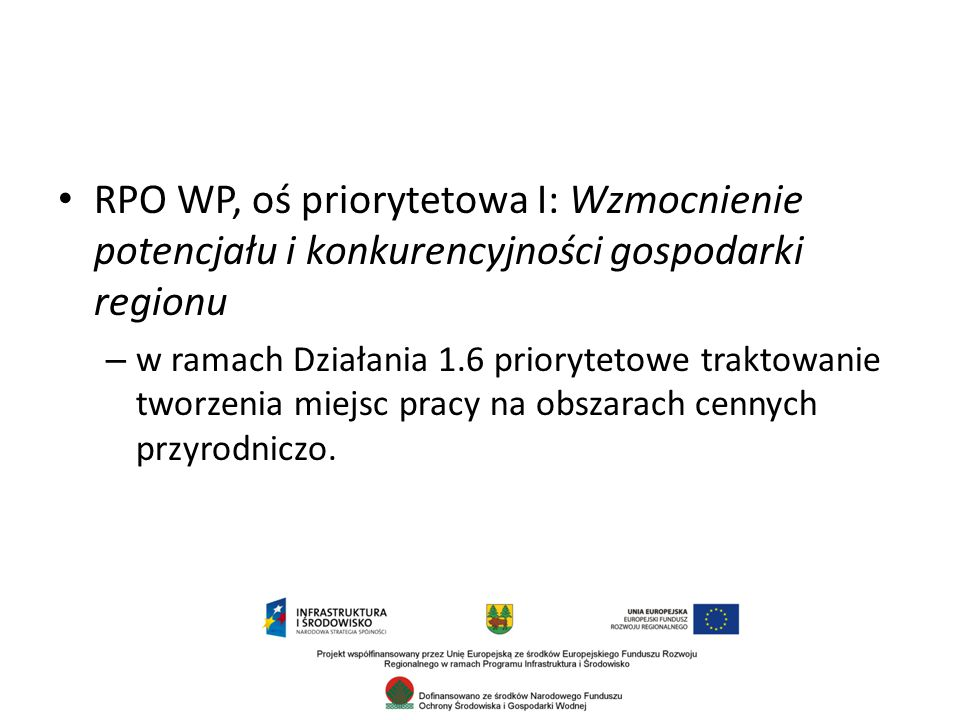 RPO WP, oś priorytetowa I: Wzmocnienie potencjału i konkurencyjności gospodarki regionu